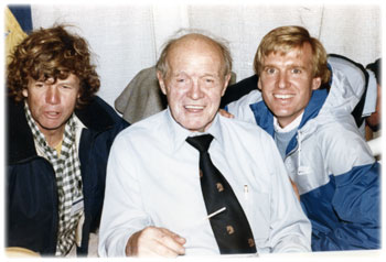 Tom (right) with Jock (middle)